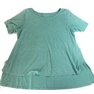 Eileen Fisher XL Hemp Organic Cotton Hi Lo TShirt